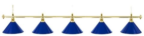 Светильник бильярдный для стола 11-12 футов «GOLDEN BLUE» (5 ПЛАФОНОВ)