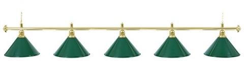 Светильник бильярдный для стола 11-12 футов «EVERGREEN» (5 ПЛАФОНОВ)