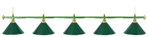 Светильник бильярдный для стола 11-12 футов «ALLGREEN» (5 ПЛАФОНОВ)