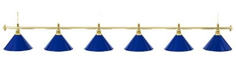 Светильник бильярдный для стола 12 футов «GOLDEN BLUE» (6 ПЛАФОНОВ)