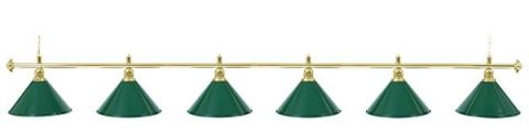 Светильник бильярдный для стола 12 футов «EVERGREEN» (6 ПЛАФОНОВ)