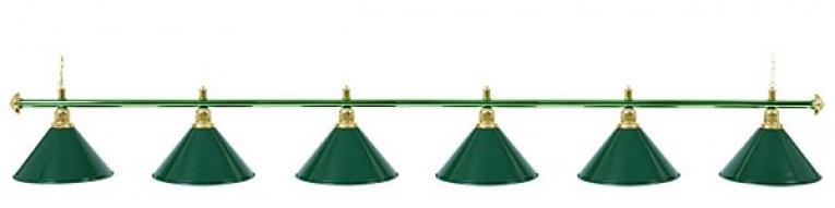 Светильник бильярдный для стола 12 футов «ALLGREEN» (6 ПЛАФОНОВ)