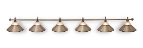 """Светильник бильярдный для стола 11-12 футов """"Alison Bronze"""" 6 плафона"""