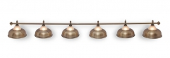 """Светильник бильярдный для стола 11-12 футов """"Crown Bronze"""" 6 плафона"""