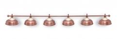"""Светильник бильярдный для стола 11-12 футов """"Crown Red Bronze"""" 6 плафона"""