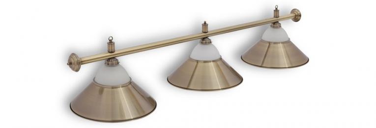 """Бильярдный светильник для стола 8 футов """"Alison Bronze"""" 3 плафона"""