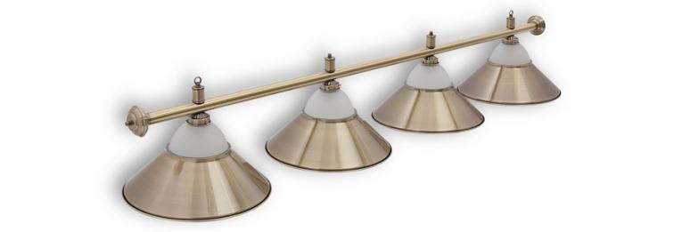 """Бильярдный светильник для стола 9-10 футов """"Alison Bronze"""" 4 плафона"""