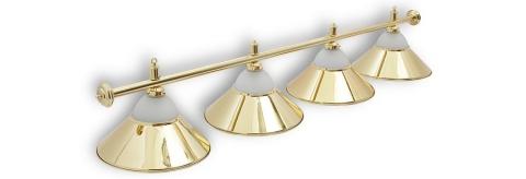 """Светильник бильярдный для стола 10-11 футов """"Alison Gold"""" 4 плафона"""
