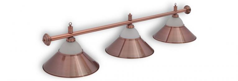 """Бильярдный светильник для стола 8 футов """"Alison Red Bronze"""" 3 плафона"""