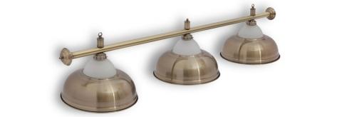 """Светильник бильярдный для стола 8-9 футов """"Crown Bronze"""" 3 плафона"""