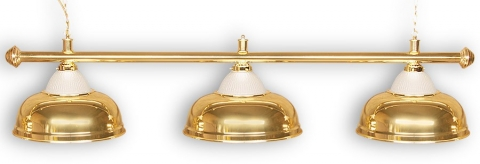 """Светильник бильярдный для стола 8-9 футов """"Crown Gold"""" 3 плафона"""