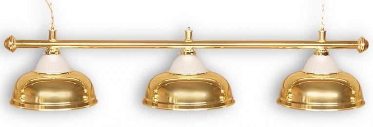 """Бильярдный светильник для стола 8 футов """"Crown Gold"""" 3 плафона"""