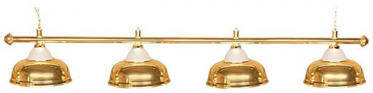 """Бильярдный светильник для стола 9-10 футов """"Crown Gold"""" 4 плафона"""