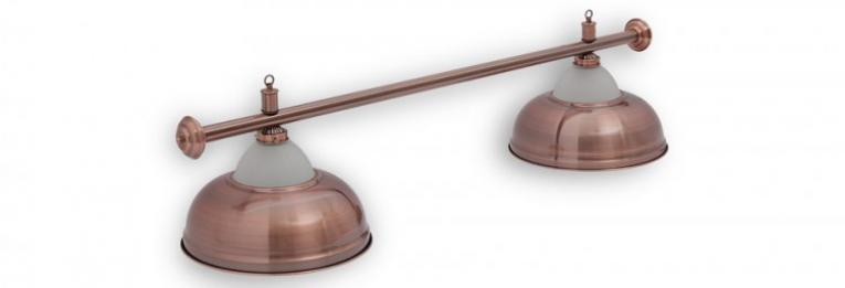 """Бильярдный светильник для стола 6-7 футов """"CROWN_RED"""" 2 плафона"""