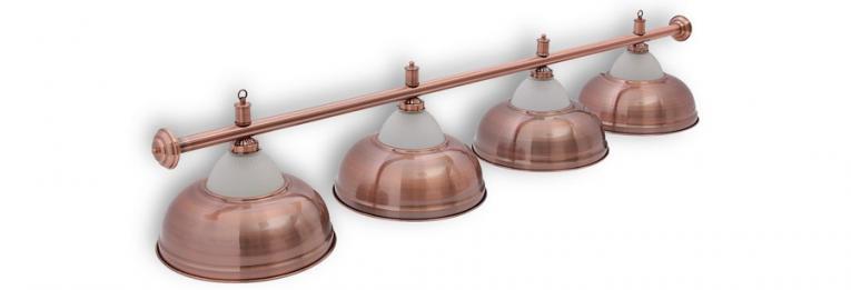 """Бильярдный светильник для стола 9-10 футов """"Crown Red Bronze"""" 4 плафона"""