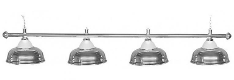 """Бильярдный светильник для стола 9-10 футов """"Crown Silver"""" 4 плафона"""
