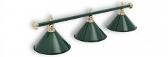 Светильник бильярдный для стола 8-9 футов «ALLGREEN» (3 ПЛАФОНОВ)