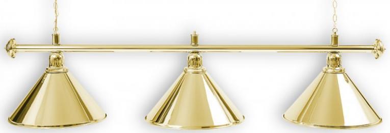 """Бильярдный светильник для стола 8 футов """"GOLDEN"""" 3 плафона"""