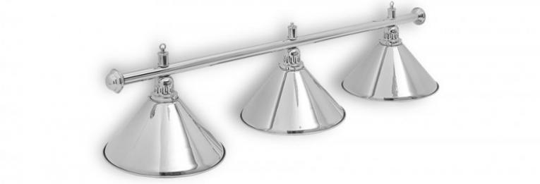 """Бильярдный светильник для стола 8 футов """"Silver"""" 3 плафона"""