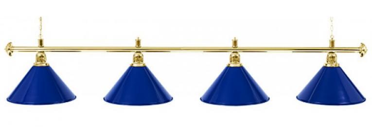 """Светильник бильярдный для стола 10-11 футов """"Golden Blue"""" 4 плафона"""