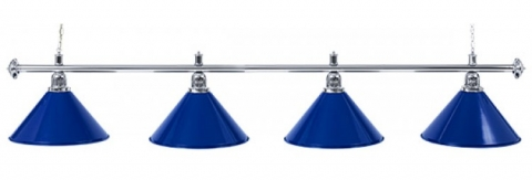 """Светильник бильярдный для стола 10-11 футов """"Silver Blue"""" 4 плафона"""