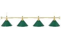 """Бильярдный светильник для стола 9-10 футов """"Evergreen"""" 4 плафона"""