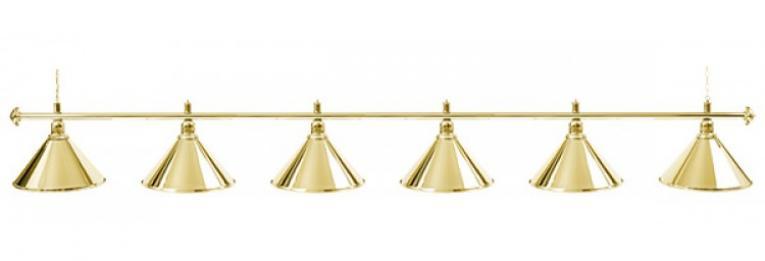 Светильник бильярдный для стола 12 футов «GOLDEN» (6 ПЛАФОНОВ)