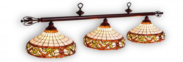 """Бильярдный светильник для стола 8 футов """"Гармония"""" 3 плафона"""