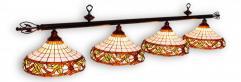 """Бильярдный светильник для стола 9-10 футов """"Гармония"""" 4 плафона"""