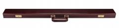 Кейс из натуральной кожи для 2-х составного кия, тёмнокрасного цвета